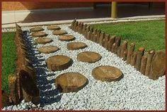 Bolachas De Madeira Piso Para Jardim Madeira Tratada 15-20cm