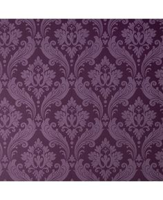 Graham  Brown - Vintage Flock: Purple Wallpaper by Kelly ($85.00 per roll at Grahambrown.com)