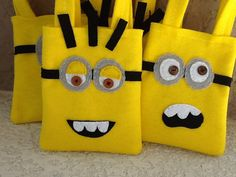 FUNNY MINNIONS/ Yellow and purple/ felt party by BellisimaSofia