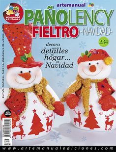 ARTEMANUAL EDICIONES - REVISTA CULTURAL PARA LA ENSEÑANZA DE LAS MANUALIDADES - Book Crafts, Craft Books, Christmas Crafts, Christmas Ornaments, Painted Books, Tole Painting, Teddy Bear, Holiday Decor, How To Make