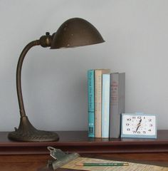 Hey, I found this really awesome Etsy listing at https://www.etsy.com/listing/179833222/vintage-desk-lamp-eagle-industrial-decor
