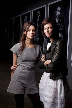 French actresses Astrid Berges Frisbey and Anna Mouglalis at Karl Lagerfeld's Chanel Little Black Jacket exhibition. Photo by James Brickwood