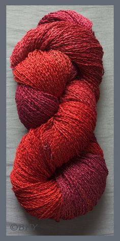 Blue Heron Yarn SOFT TWIST RAYON color Carneliau by KnittingNancys, $41.75 www.etsy.com/knittingnancys