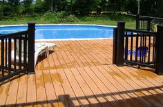 ideas for decks around above ground pools | Photo Gallery | Decks | Breyer Construction & Landscape