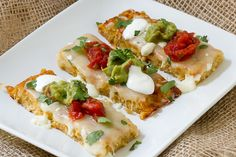Cheesy Cauliflower Breadsticks - Mexican inspired, like nachos!