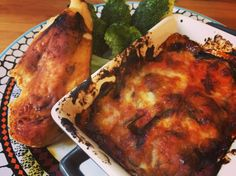 Griddled chicken with mozzarella melenzane and steamed broccoli – Rest day
