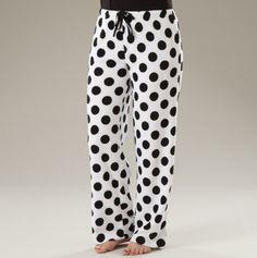 Printed Plush Drawstring Pants. I want these!