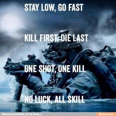 Navy SEALs creed.
