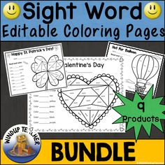 Save BIG!!! This Bundle will contain all the Sight Word Coloring Activity Sheet products in my store. I Sight Word Activities, Color Activities, Activity Games, Winter Activities, Winter Word Search, Sight Word Coloring, Winter Words, Kindergarten Language Arts, Clowning Around