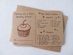 letterpress recipe cards.
