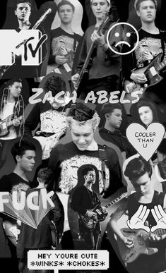 I love how there is a random Mikey at the top. Jesse Rutherford, Black Aesthetic Wallpaper, Aesthetic Wallpapers, Zach Abels, The Neighbourhood, Indie, Rock Poster, Pop Rock, Youre Cute