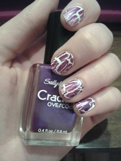 White base with purple crackle.