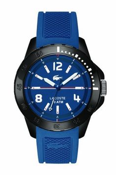 Lacoste 2010716 Fidji Blue Silicone Strap Men's Watch (FreeShip) for sale online Lacoste Clothing, Elegant Man, Lacoste Men, Luxury Watches For Men, Black Stainless Steel, Cool Watches, Men's Watches, Casio Watch, Things To Buy