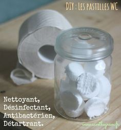"""DIY : Pastilles écologiques effervescentes pour WC par """"save the green"""" Natural Cleaning Recipes, Natural Cleaning Products, Limpieza Natural, Diy Organisation, Flylady, Tips & Tricks, Green Cleaning, Green Life, Do It Yourself Home"""