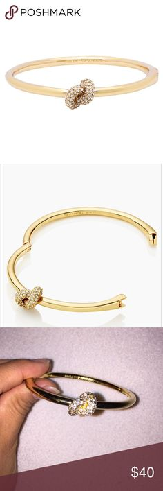Kate spade sailors knot bangle Kate spade sailors knot bangle in gold. This one has diamonds on the knot. Beautiful & I got so many compliments but I just don't wear it enough! kate spade Jewelry Bracelets