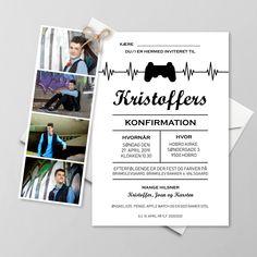 Konfirmationsinvitationer - Få designet din egen skabelon - Se her Special Day, Playstation, Gift Wrapping, Invitations, Cards, Noah, Inspiration, Camilla, Mockup
