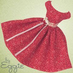 Positive Outlook- Vintage Barbie Doll Dress Reproduction Repro Barbie Clothes