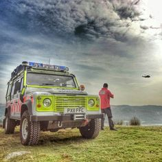 // Land Rover Defender Station wagon Mountain Rescue Ambulance