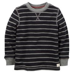 Carter's Little Boys' Striped Thermal Shirt (5, Black) *** Check this awesome product by going to the link at the image.