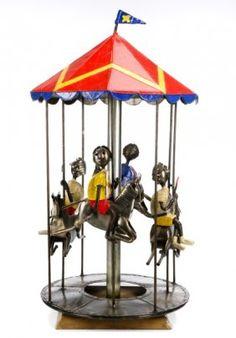 Rotating Carousel Sculpture, Arte Felguerez : Lot 864
