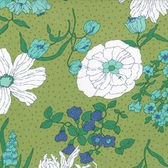 Color Me Happy 10820-15 Lime Flower Garden by V & Co for Moda