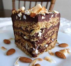 Vegan Almond Joy Layer Cake