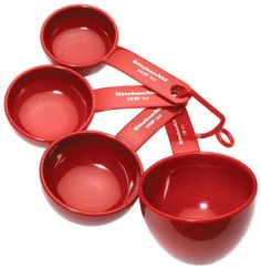 Amazon.com: Kitchenaid Classic Set Of 4 Measuring Cups, Red: Kitchen & Dining