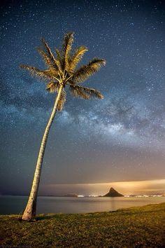 ハワイの星空