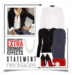 """""""Statement Necklace"""" by conch-lady ❤ liked on Polyvore featuring Michael Kors, Anne Klein, McGuire Denim, Christian Louboutin and statementnecklaces"""