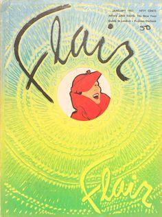 Flair January 1951, René Gruau