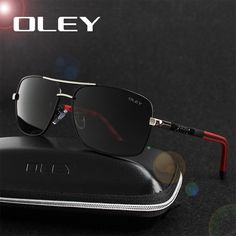 b215928fbf OLEY Brand Polarized Sunglasses Men New Fashion Eyes Protect Sun Glasses  With Accessories Unisex driving goggles