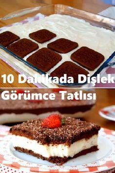 Toothy Görüm Dessert in 10 Minutes - Tatlı Tarifleri - Dessert Pasta Recipes, Snack Recipes, Dessert Recipes, Snacks, Pasta Cake, Turkish Kitchen, Pesto Pasta, Great Desserts, Cupcakes
