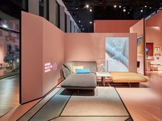 Cassina marks anniversary with installation exploring its past and future - Basement Design - Showroom Interior Design, Furniture Showroom, Interior Architecture, Furniture Design, Furniture Companies, Exhibition Stand Design, Exibition Design, Milan Design Week 2017, Retail Design
