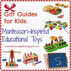 eLeMeNO-P Kids: Gift Guide:Montessori-Inspired Educational Toys
