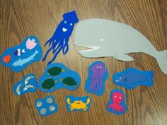 I'm the biggest thing in the ocean flannel/felt Flannel Board Stories, Felt Board Stories, Felt Stories, Flannel Boards, Language Activities, Activities For Kids, Educational Activities, Ocean Activities, Ocean Unit
