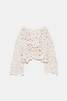 ZARA - Female - Crochet sweater - Ecru - S
