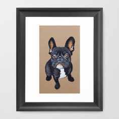 Pin for Later: Ooh La La — 20 Fabulous French Bulldog Gifts  Dot & Bo Frenchie Art Print ($19)
