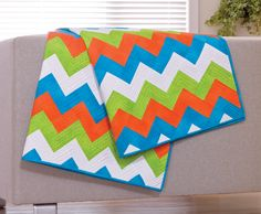 Chevron #quilt using #accuquilt GO! Rectangle die #fabriccuter http://www.accuquilt.com/new/go-chevrons-quilt.html