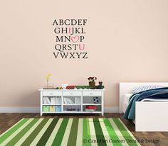 ABC I Love You   Vinyl Wall Decal  Nursery by CanadianCustomDecals