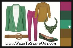 Dress yourself in Emerald using a Triadic color scheme.