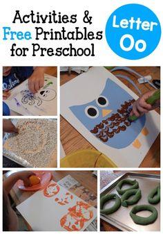 Letter O activities for preschool