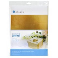 Foglio adesivo Silhouette stampabile A4 oro