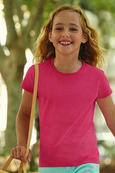 Tricou de fete Sofspun® Fruit of the Loom #tricouri #copii #personalizate #promotionale #imprimate #brodate