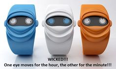 Ninja Watch - one eye moves for the hour, the other for the minute - i soooooo want one ^_^