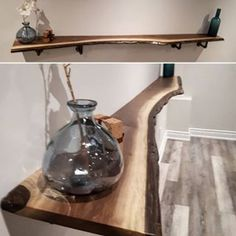 Another shot of the live edge black walnut shelves we made for a repeat client in Toronto. We supplied the finished wood and he made up…