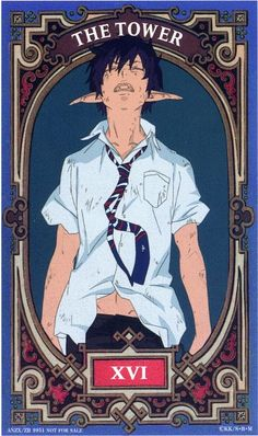 Zerochan anime image gallery for Ao no Exorcist (Blue Exorcist), Tarot Cards. Rin Okumura, Blue Exorcist Anime, Ao No Exorcist, Anime Nerd, Anime Guys, Fullmetal Alchemist, Manga Boy, Manga Anime, The Tower Tarot