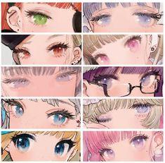 Eye Drawing Tutorials, Digital Painting Tutorials, Digital Art Tutorial, Art Tutorials, Drawing Tips, Eyes Artwork, Anime Kunst, Anime Eyes, Eye Art