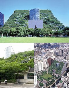 Green office building in Japan.