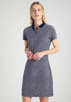 Tommy Hilfiger NEW CHIARA - Summer dress - blue for with free delivery at Zalando Blue Summer Dresses, Blue Dresses, Tommy Hilfiger Women, Fashion Line, Fabric Material, Short Sleeve Dresses, Slim, Fitness, Womens Fashion