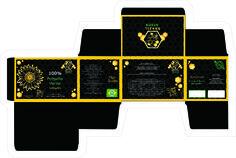 Caixa da Embalagem desenvolvida para marca de própolis.